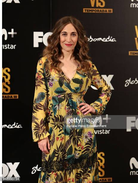Marta Aledo attends the 'Vis A Vis' photocall at VP Plaza de Espana Hotel on April 19, 2018 in Madrid, Spain.