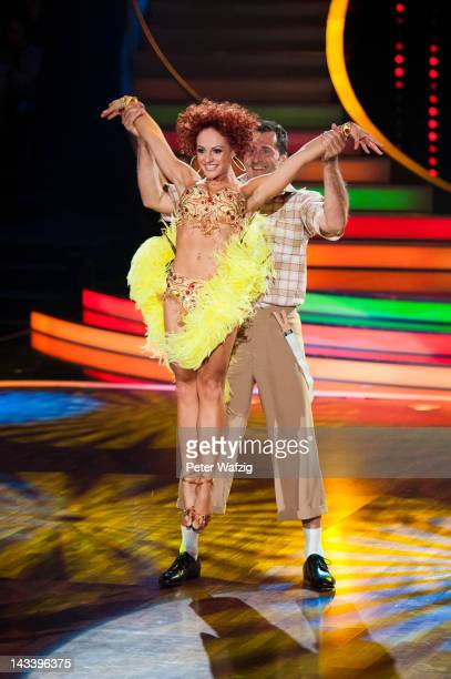 Marta Arndt and Lars Riedel perform during 'Let's Dance' 7th Show at Coloneum on April 25 2012 in Cologne Germany