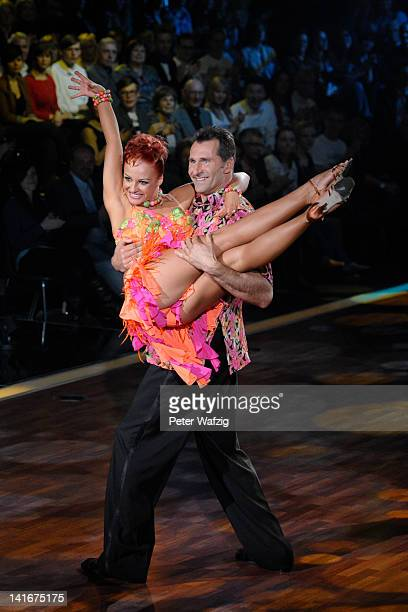 Marta Arndt and Lars Riedel perform during the 'Let's Dance' TV Show on March 21 2012 in Cologne Germany