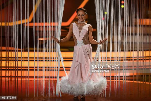 Marta Arndt performs on stage during the semi final of the tenth season of the television competition 'Let's Dance' on June 2 2017 in Cologne Germany