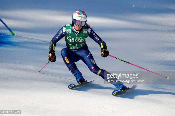 Marta Bassino of Italy competes during the Audi FIS Alpine Ski World Cup Women's Giant Slalom on December 28, 2019 in Lienz Austria.