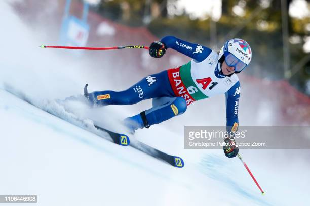 Marta Bassino of Italy competes during the Audi FIS Alpine Ski World Cup Women's Super G on January 26 2020 in Bansko Bulgaria