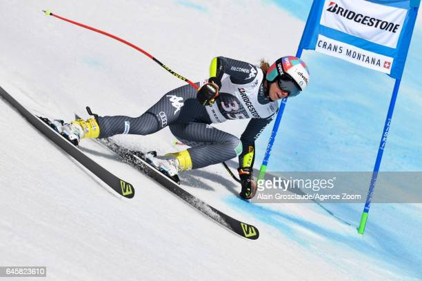 Marta Bassino of Italy competes during the Audi FIS Alpine Ski World Cup Women's Alpine Combined on February 26 2017 in Crans Montana Switzerland