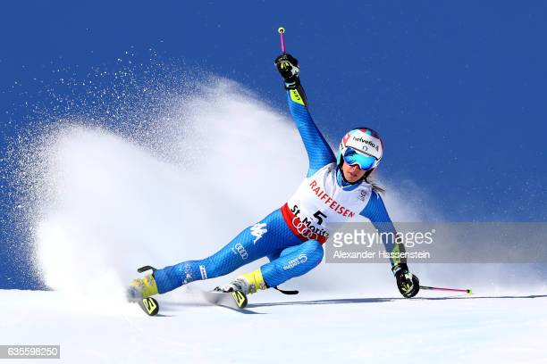 Marta Bassino of Italy competes in the Women's Giant Slalom during the FIS Alpine World Ski Championships on February 16 2017 in St Moritz Switzerland