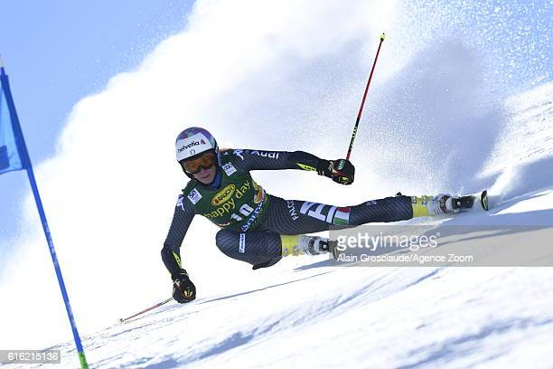 Marta Bassino of Italy in action during the Audi FIS Alpine Ski World Cup Women's Giant Slalom on October 22, 2016 in Soelden, Austria