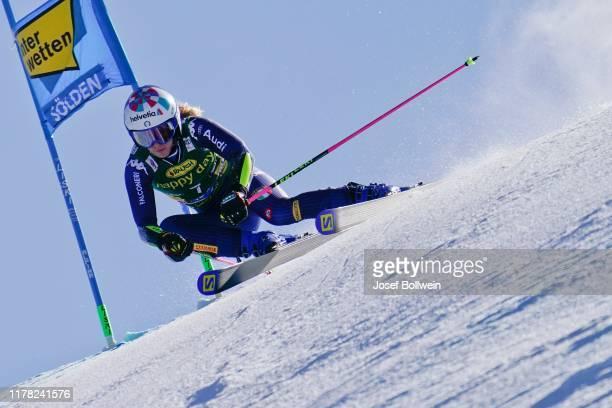 Marta Bassino of Italy in the second run of the Alpine Ski World Cup - Women's Giant Slalom on October 26, 2019 in Soelden, Austria.