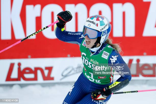 Marta Bassino of Italy takes 2nd place during the Audi FIS Alpine Ski World Cup Women's Giant Slalom on December 28, 2019 in Lienz Austria.