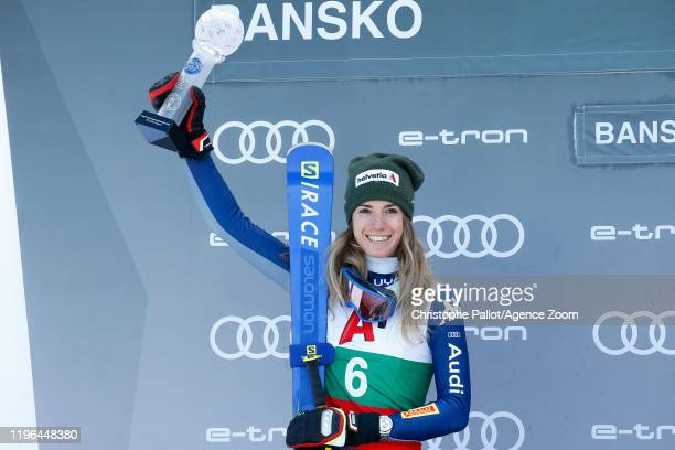 Marta Bassino of Italy takes 2nd place during the Audi FIS Alpine Ski World Cup Women's Super G on January 26 2020 in Bansko Bulgaria
