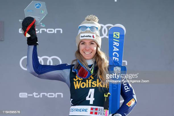 Marta Bassino of Italy takes 3rd place during the Audi FIS Alpine Ski World Cup Women's Parallel Slalom on January 19, 2020 in Sestriere Italy.