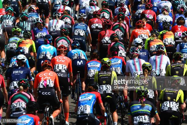 Marta Bastianelli of Italy and Team VIRTU Cycling / Valerie Demey of Belgium and Team CCC Liv / Pauliena Rooijakkers of The Netherlands and Team CCC...