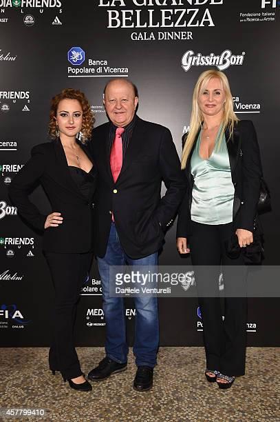 Marta Boldi, Loredana De Nardis and Massimo Boldi attend the Gala Dinner 'La Grande Bellezza' during the 9th Rome Film Festival on October 24, 2014...