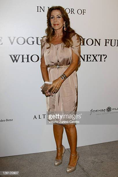 Marta Brivio Sforza attends The Vogue Fashion Fund Who Is On Next party dring Milan Fashion Week Womenswear Spring/Summer 2012 at Palazzo Morando on...