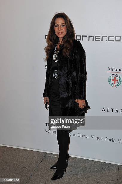 Marta Brivio Sforza attends the Vogue Talents Corner Vogue Italia during Milan Fashion Week Womenswear A/W 2011 on February 23 2011 in Milan Italy