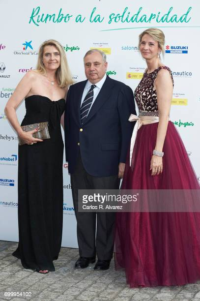 Marta Cardona Fernando Martinez de Irujo y FitzJames Stuart and Laura Falco Lara attend the 'Get Best Give Most' charity party at the French Embassy...