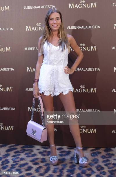 Marta Carriedo attends the Magnum new campaign presentation party at the Palacete de Fortuny on June 14 2017 in Madrid Spain