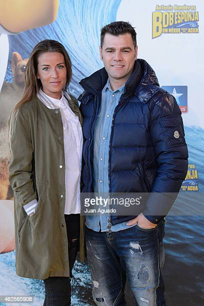 Marta Castro and Fonsi Nieto attend the 'Bob Esponja' Premiere at Kinepolis Cinema on January 31 2015 in Madrid Spain