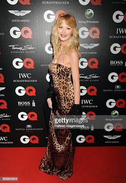 Marta Cecchetto arrives at the 2008 GQ Men of the Year Award at the Congress Hall on November 13 2008 in Munich Germany
