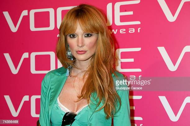 Marta Cecchetto arrives the Vogue Eyewear Party at Quattrocento on May 29 2007 in Milan Italy