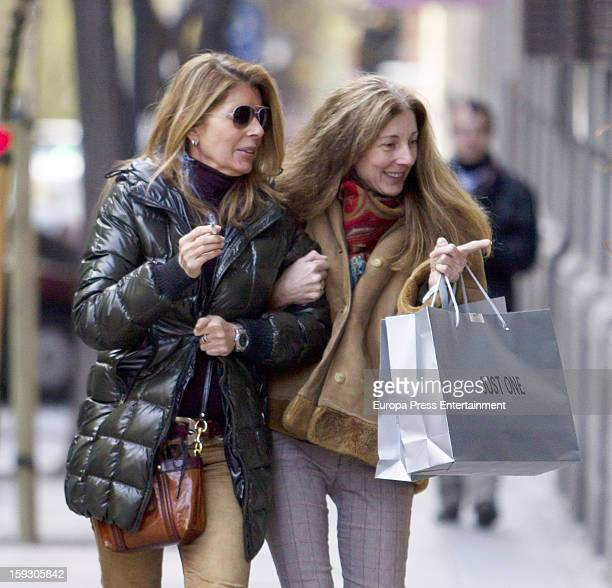 Marta Chavarri and Isabel Chavarri are seen on January 10 2013 in Madrid Spain