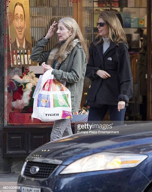 Marta Chavarri and Isabel Chavarri are seen on January 10 2014 in Madrid Spain