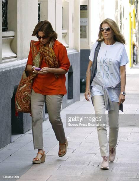 Marta Chavarri and Katia Guerrero are seen on June 14 2012 in Madrid Spain