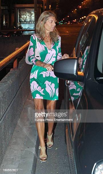 Marta Chavarri celebrates her 52th birthday on August 1 2012 in Madrid Spain