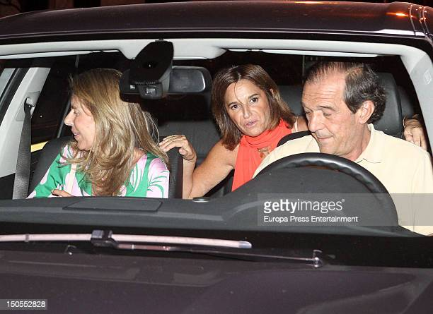 Marta Chavarri celebrates her 52th birthday with her boyfriend Antonio Gutierrez Marcet on August 1 2012 in Madrid Spain