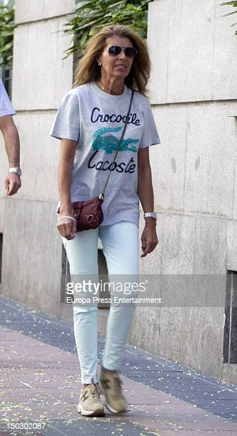 Marta Chavarri is seen on August 1 2012 in Madrid Spain