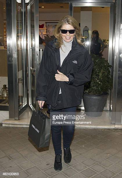 Marta Chavarri is seen on January 10 2014 in Madrid Spain