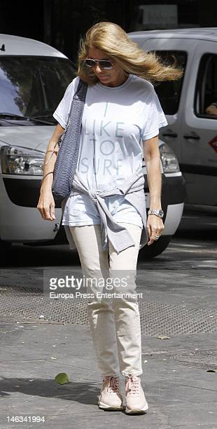 Marta Chavarri is seen on June 14 2012 in Madrid Spain