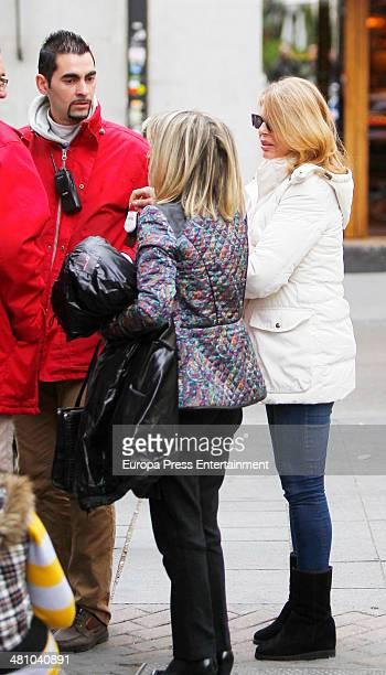 Marta Chavarri is seen on March 27 2014 in Madrid Spain