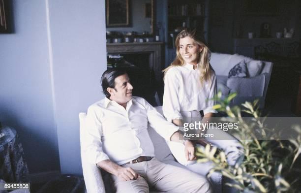 Marta Chavarri next to Fernando Falco Seated in a armchair