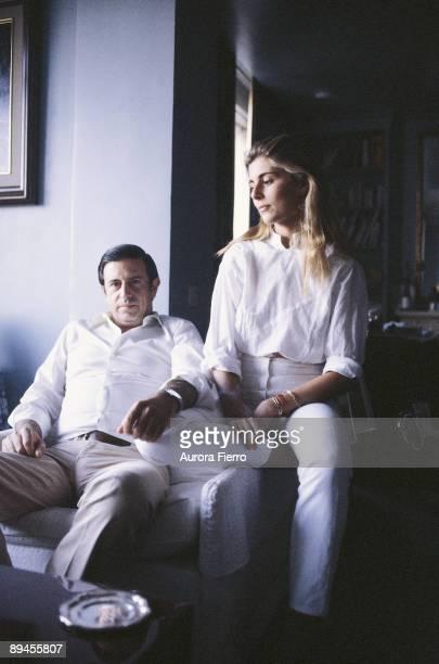 Marta Chavarri next to Fernando Falco Seated in an armchair
