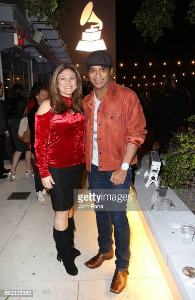 Marta Clark and Jon Secada attend the Membership Celebration at the Recording Academy on December 14 2017 in Miami Beach Florida