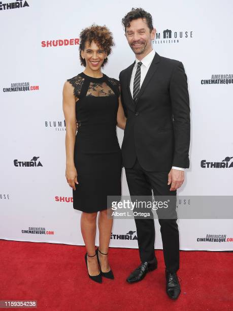 Marta Cuningham and James Frain attend the 6th Annual Etheria Film Showcase held at American Cinematheque's Egyptian Theatre on June 29 2019 in...