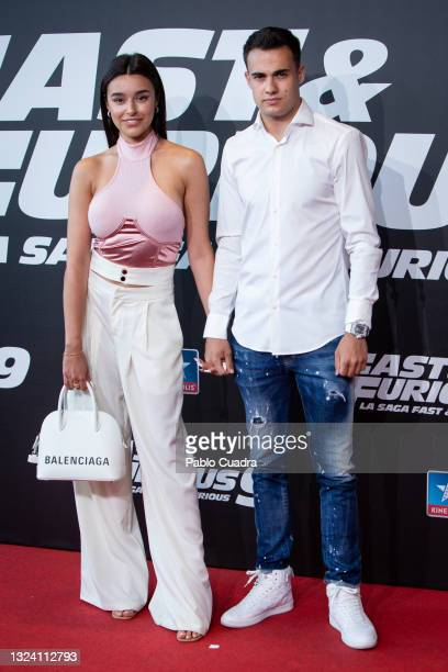 Marta Diaz and Sergio Reguilon attend 'Fast and Furious 9' premiere at Kinepolis Cinema on June 17, 2021 in Madrid, Spain.