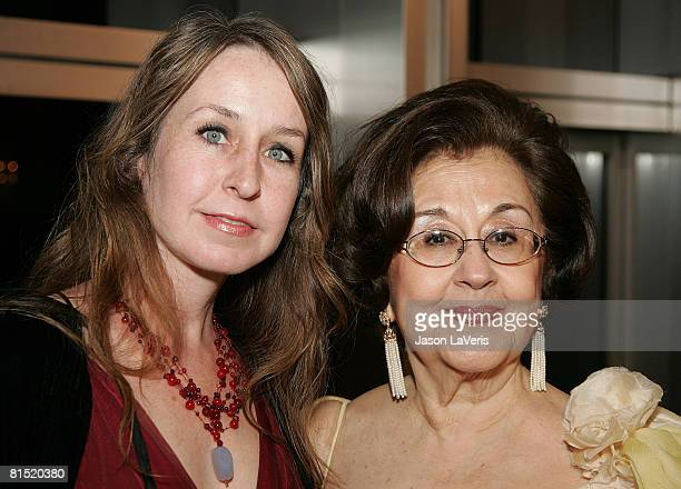 Marta Domingo and guest at La Rondine LA Opera Opening Night at the Dorothy Chandler Pavilion on June 7 2008 in Los Angeles California