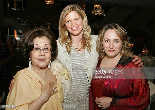 Marta Domingo KeriLynn Wilson and Patricia Racette at the La Rondine LA Opera Opening Night at the Dorothy Chandler Pavilion on June 7 2008 in Los...