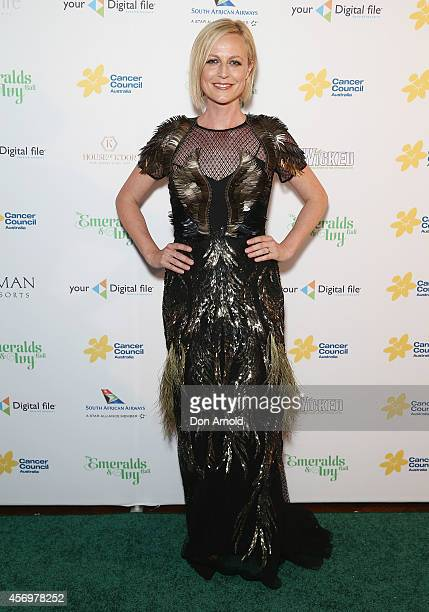 Marta Dusseldorp arrives at The Emeralds and Ivy Ball at Sydney Town Hall on October 10 2014 in Sydney Australia