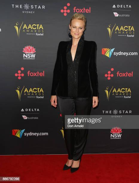 Marta Dusseldorp poses during the 7th AACTA Awards at The Star on December 6 2017 in Sydney Australia
