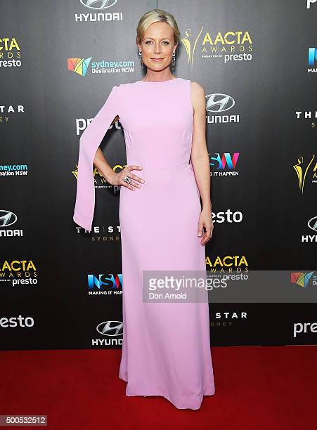 Marta Dusseldorp poses on the red carpet for the 5th AACTA Awards at The Star on December 9, 2015 in Sydney, Australia.