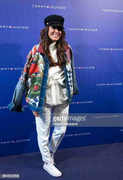 Marta Escalante poses during a photocall for the TommyXGigi Collection at the Tommy Hilfiger store on September 26 2017 in Barcelona Spain