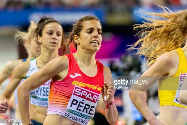 Marta ESP competing in the 1500m Women event during day ONE of the European Athletics Indoor Championships 2019 at Emirates Arena in Glasgow Scotland...