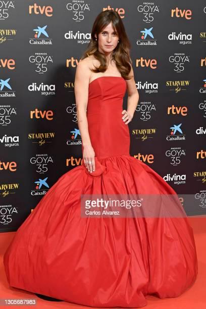 Marta Etura attends Goya Cinema Awards 2021 red carpet at Gran Hotel Miramar on March 06, 2021 in Malaga, Spain.