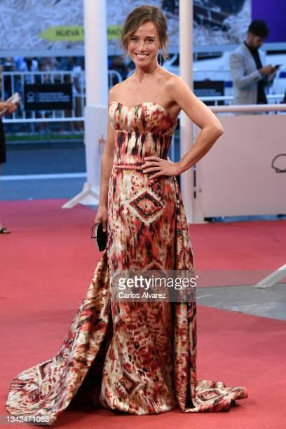 "Marta Etura attends ""Las Leyes de La Frontera"" premiere during 69th San Sebastian Film Festival at the Kursaal, San Sebastian on September 25, 2021..."