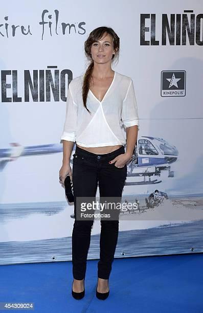 Marta Etura attends the premiere of 'El Nino' at Kinepolis Cinema on August 28, 2014 in Madrid, Spain.