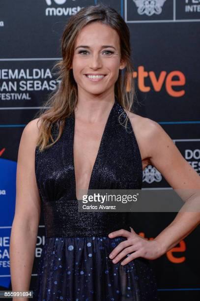 Marta Etura attends the red carpet of the closure gala during 65th San Sebastian Film Festival at Kursaal on September 30, 2017 in San Sebastian,...