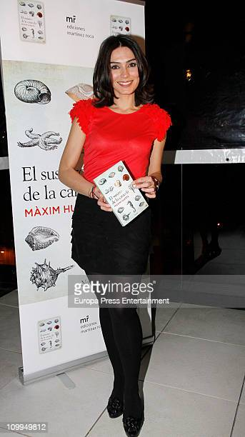Marta Fernandez attends the launch of the book 'El susurro de la caracola' written by the journalist and TV presenter Maxim Huerta at Oscar Hotel on...