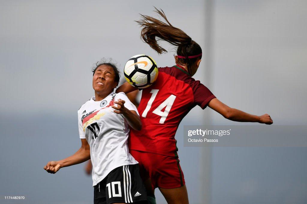 Women's Portugal U19 v Women's Germany U19 - UEFA Women's U19 European Championship Qualifier : News Photo