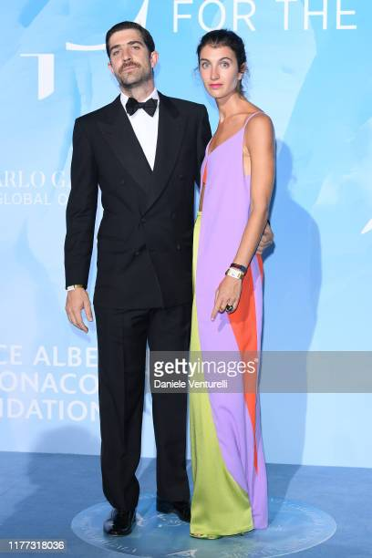 Marta Ferri and Carlo Borromeo attend the Gala for the Global Ocean hosted by H.S.H. Prince Albert II of Monaco at Opera of Monte-Carlo on September...